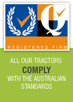 Agrison Tractors Comply with the Australian Standards
