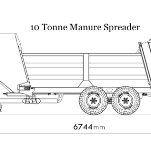 Manure Spreader 10 Tonne Diagram
