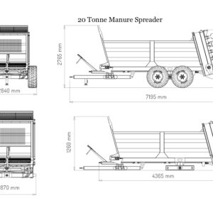 Manure Spreader 20Tonne Diagram
